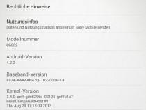 Xperia Z Ultra C6802 14.1.B.1.526 Firmware Details