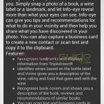 Xperia Z1 Camera app Info-eye version 1.1.02 OTA update