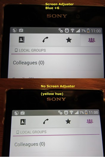 Xperia Z1 Yellow Hue Tint Issue on Screen Display - Solution