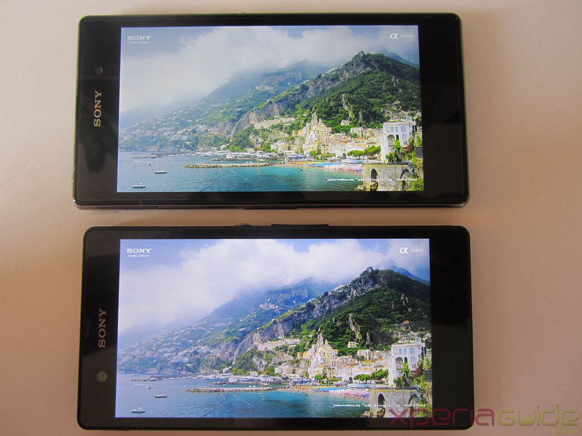 Xperia Z1 Triluminos Display Vs Xperia Z Display Comparison - Ocean Background