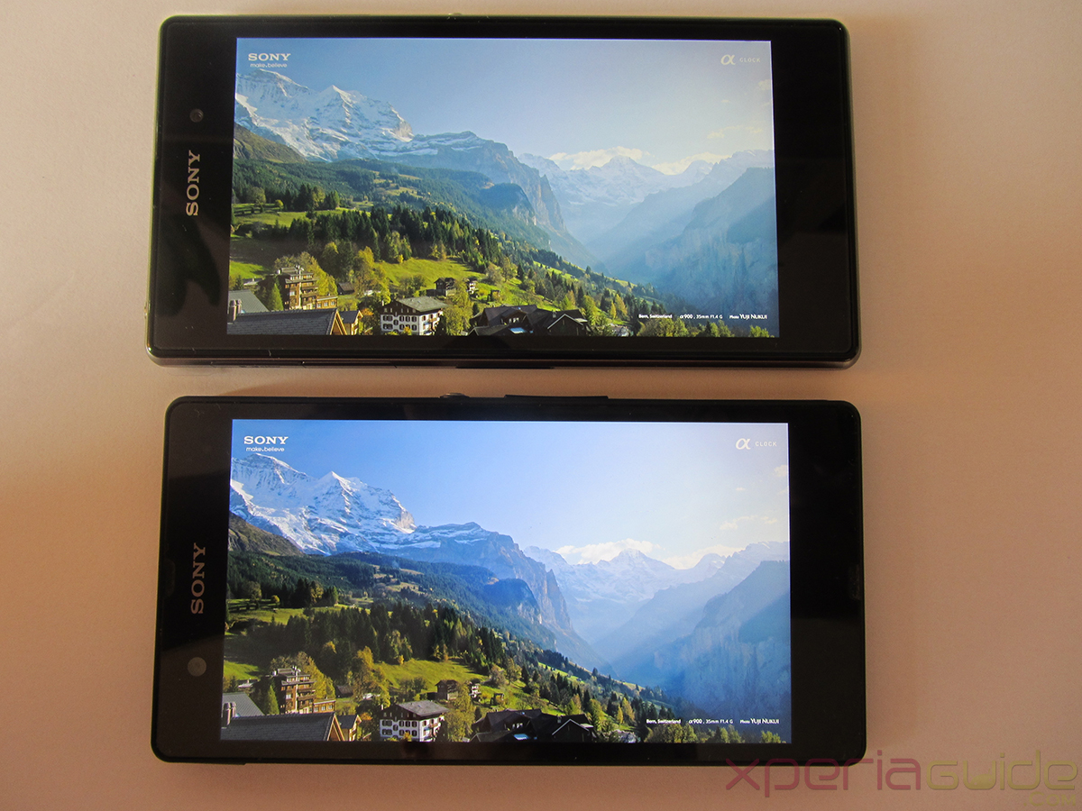 Xperia Z1 Triluminos Display Vs Xperia Z Display Comparison - Hill Background