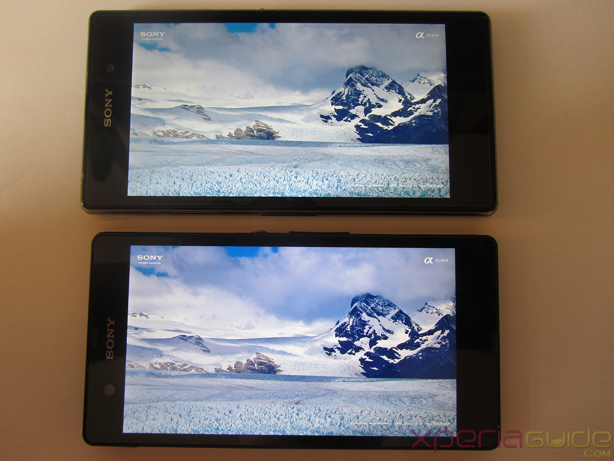 Xperia Z1 Triluminos Display Vs Xperia Z Display Comparison - Sky  Water Background