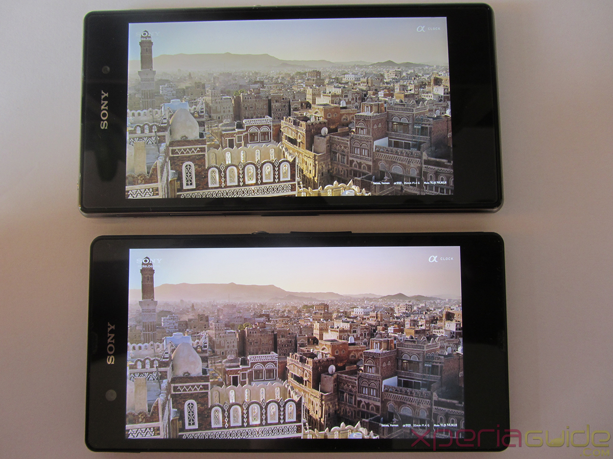 Xperia Z1 Triluminos Display Vs Xperia Z Display Comparison - Clear City Background