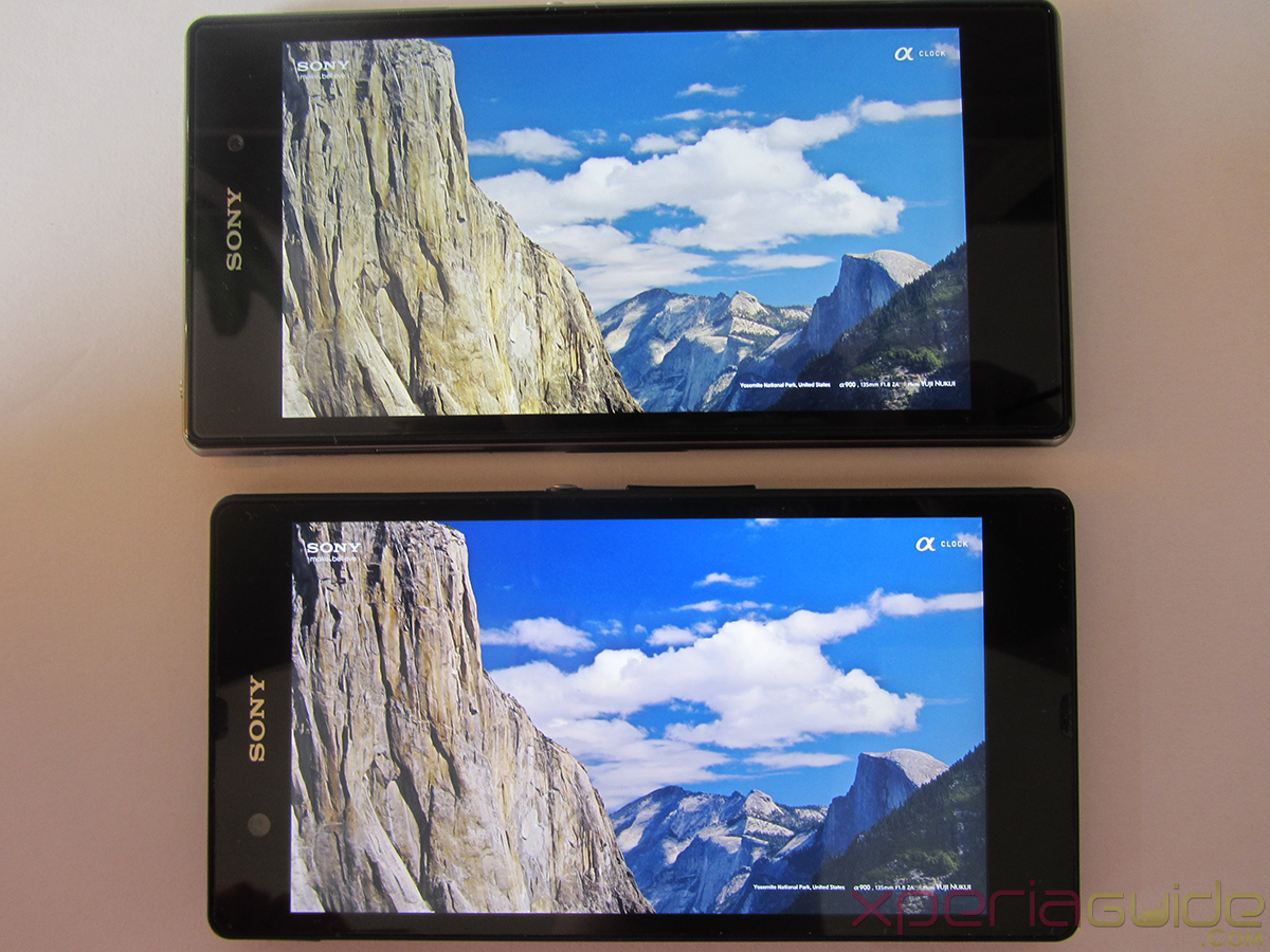 Xperia Z1 Triluminos Display Vs Xperia Z Display Comparison - Clear Mountains Background