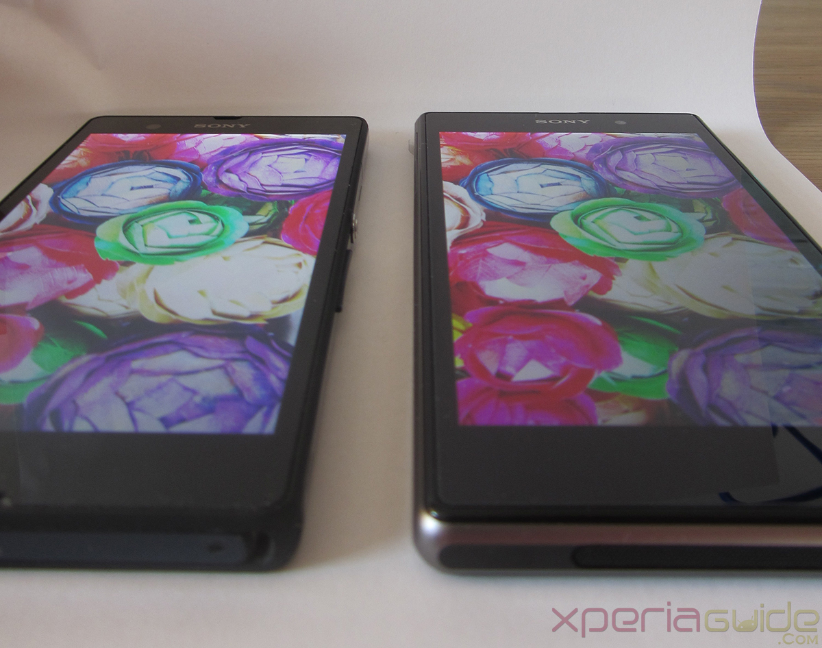 Xperia Z1 Triluminos Display Vs Xperia Z Display Comparison - Bottom Viewing angles