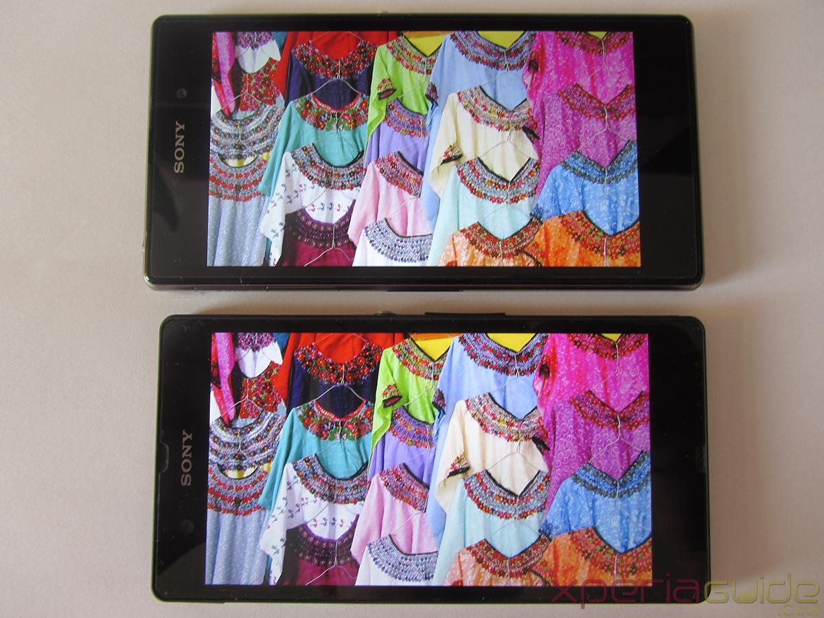 Xperia Z1 Triluminos Display Vs Xperia Z Display Comparison - Multicolor Background