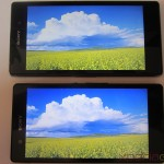 Xperia Z1 Triluminos Display Vs Xperia Z Display Comparison - Blue Sky Background