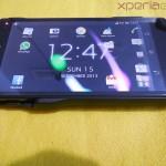 Mugen Power 3000mAh Battery Case for Sony Xperia Z - Charging mode Horizontal screen