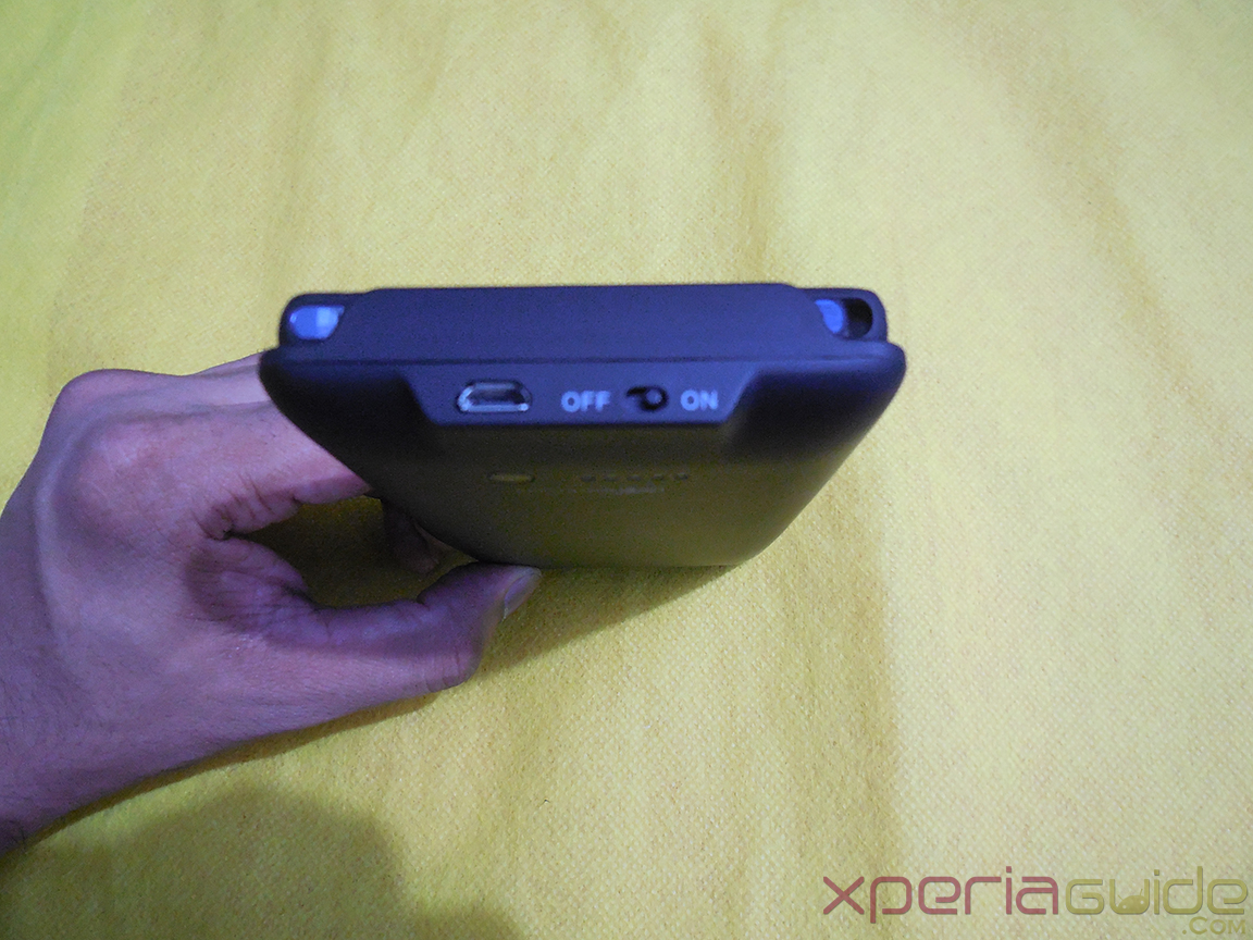 Mugen Power 3000mAh Battery Case for Sony Xperia Z - On/Off Button