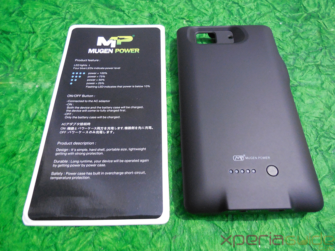 timeless design 88c73 2270e Mugen Power 3000mAh Battery Case for Sony Xperia Z - Out of Box ...