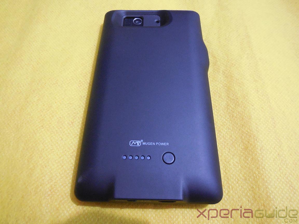 Mugen Power 3000mAh Battery Case for Sony Xperia Z - Back Side