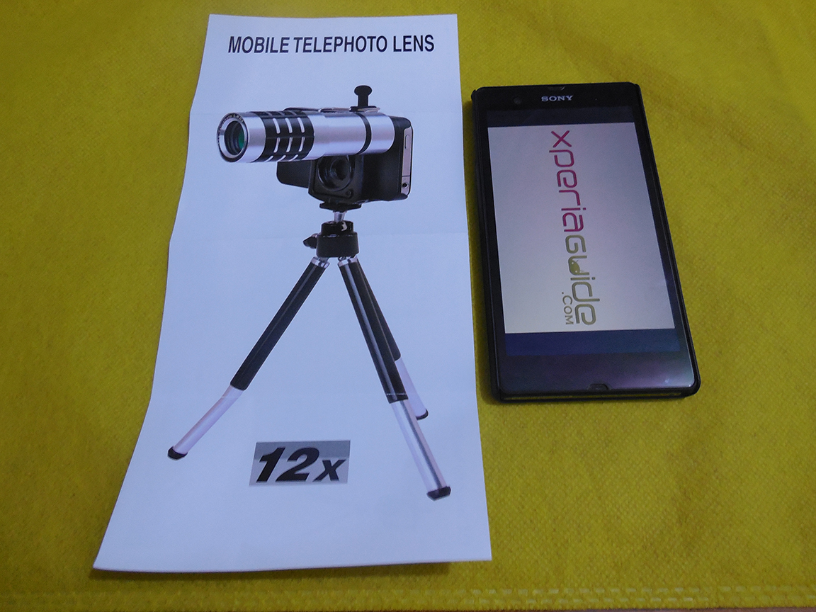 Sony Xperia Z 12x Zoom Telescope with Tripod Stand Review