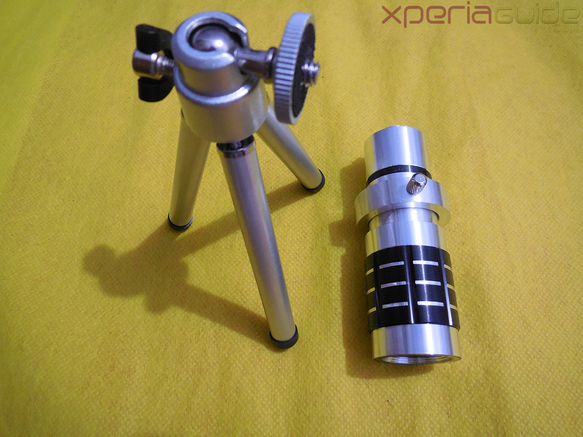 Xperia Z 12x Zoom Telescope with Tripod Stand Legs and lens screw