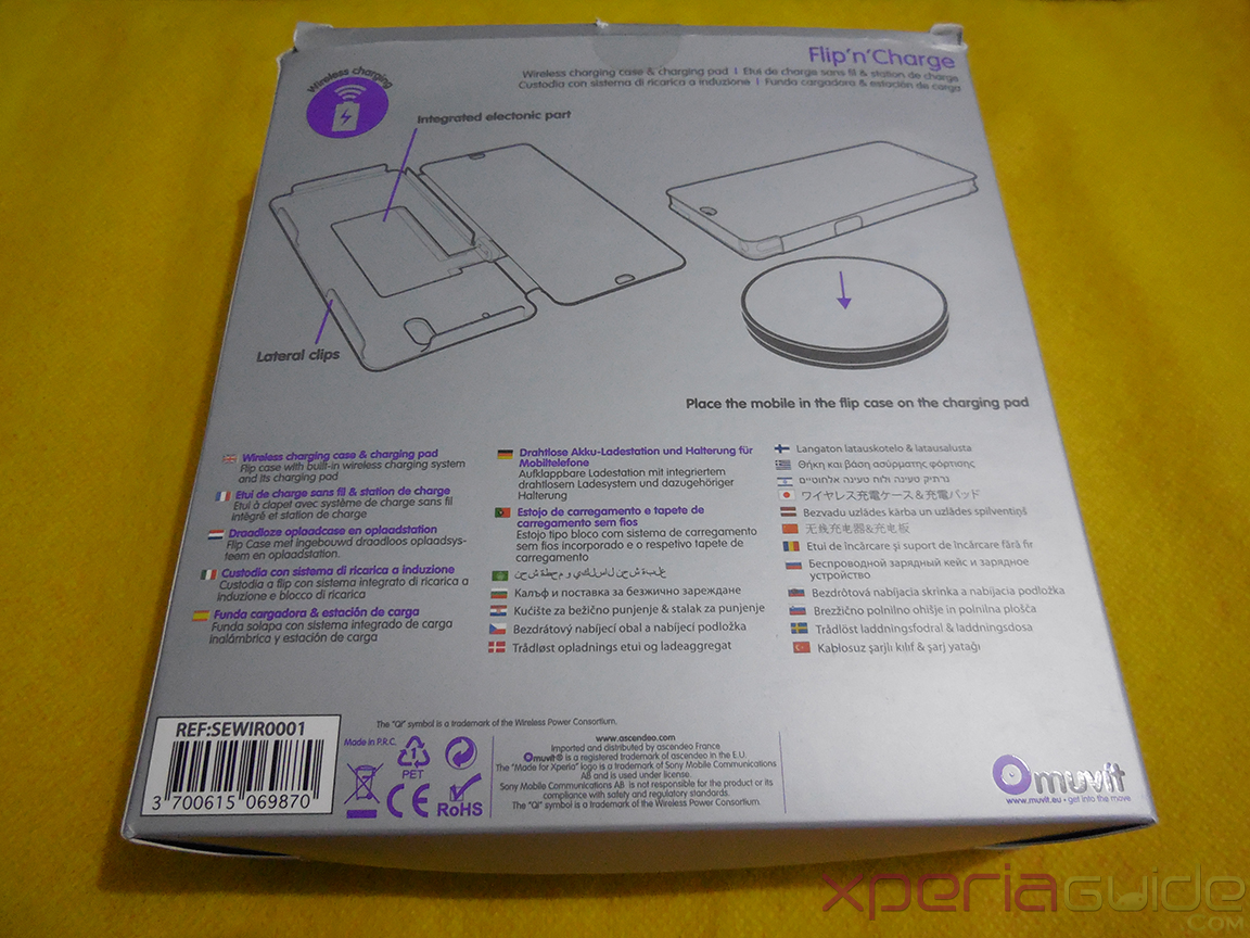 Muvit Sony Xperia Z wireless charging pack - Back Cover Side