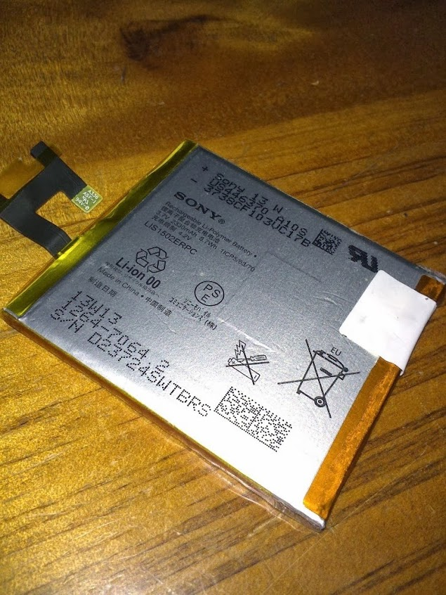 Xperia Z Battery removed