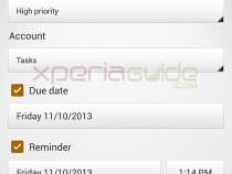 Sony Xperia Z1 Tasks App version 1.0.A.0.1