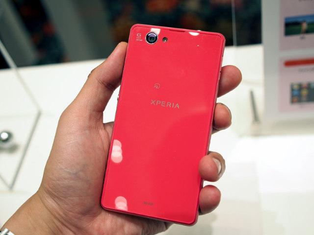 Sony Xperia Z1 f pink back