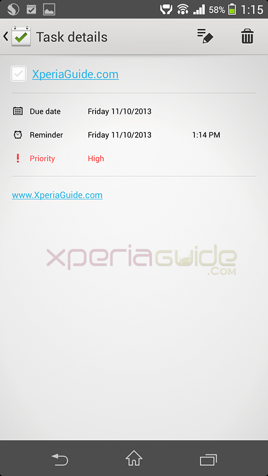 Xperia Z1 Tasks App version 1.0.A.0.1 App Update