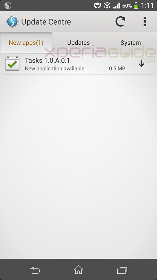 Xperia Z1 Tasks App version 1.0.A.0.1