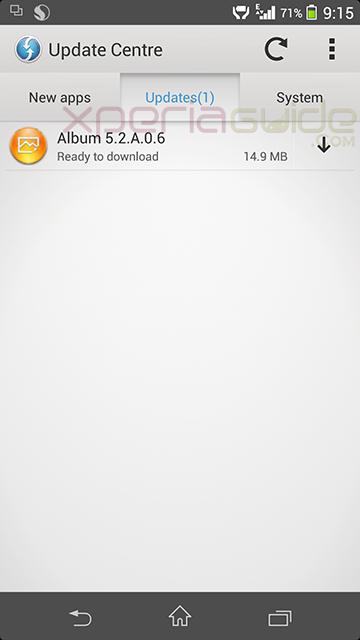 Xperia Z1 Album app version 5.2.A.0.6