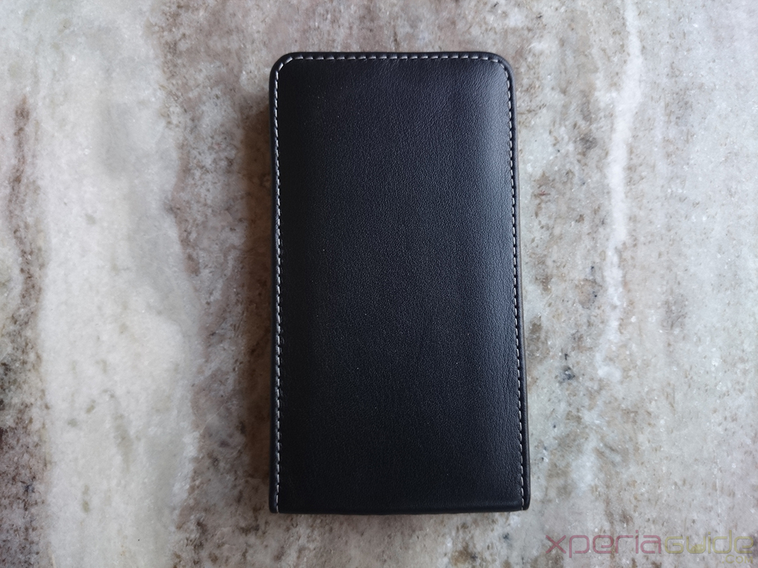PDair Xperia Z1 Vertical Pouch Leather Case Back Side