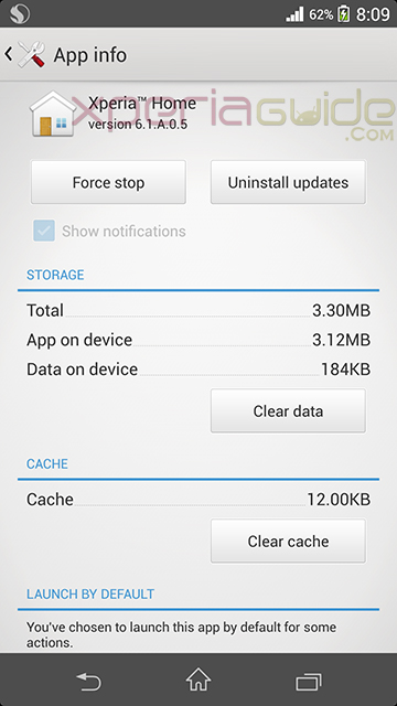 Install Xperia Home 6.1.A.0.5 version on Xperia Z1