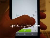 Xperia Z1S Dialpad interafce