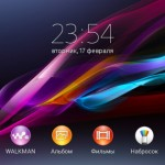 Xperia Z1S Home Screen