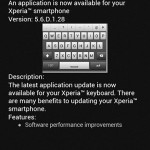 Xperia keyboard version 5.6.D.1.28 OTA update for Xperia S, SL, P