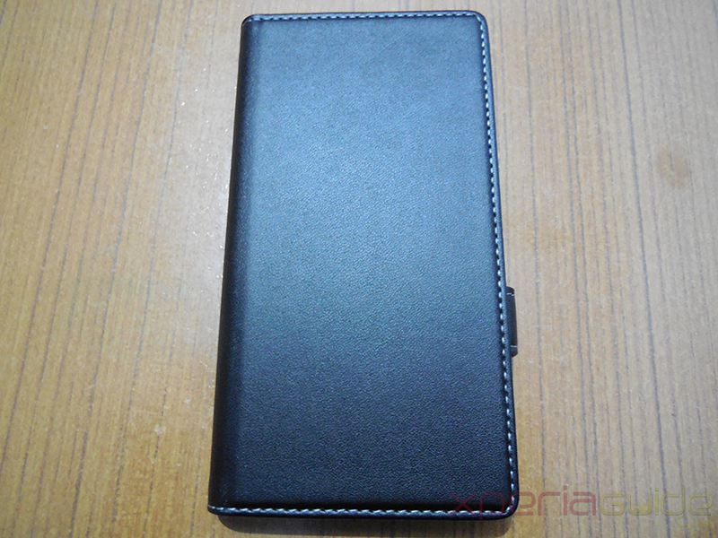 Muvit Black Leather flip case for Xperia Z1