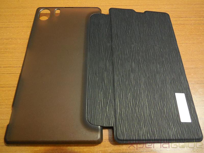 Xperia Z1 Side Flip case from RockPhone - Front Side