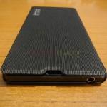 Xperia Z1 Side Flip Case from RockPhone - 3.5mm headphone jack port