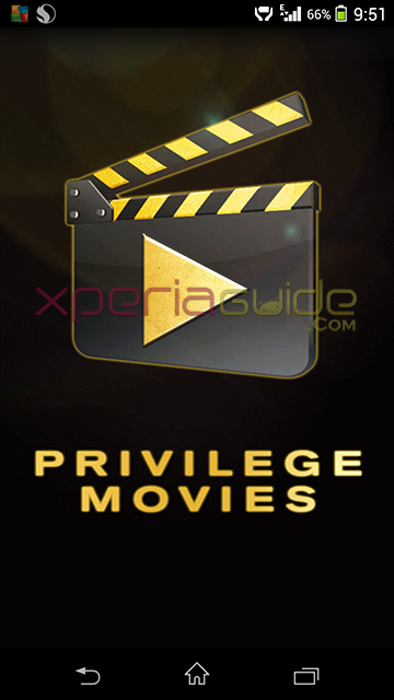 Download Xperia Privilege Movies app