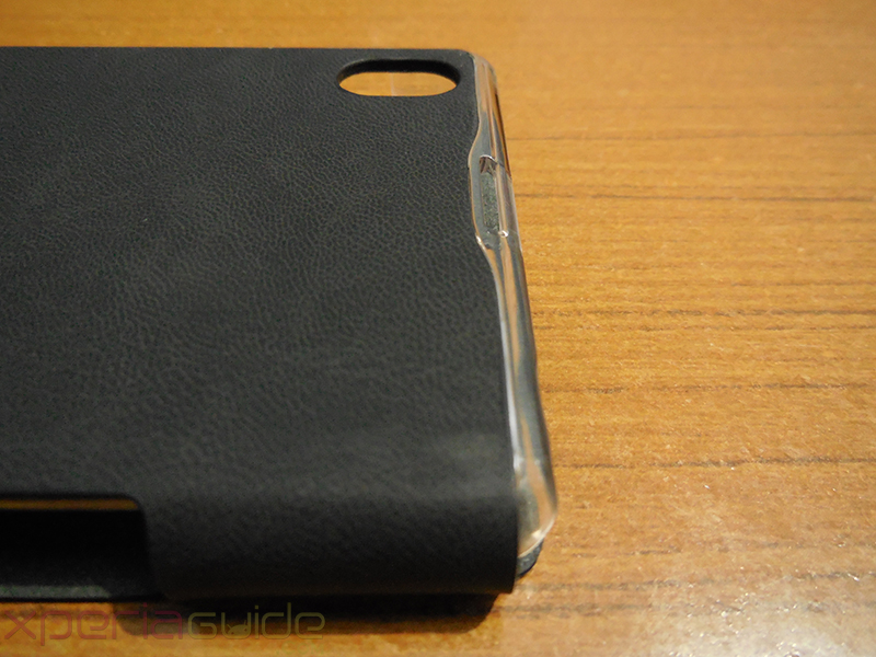 Xperia Z1 Book Flip Case from Roxfit - Opening for Camera