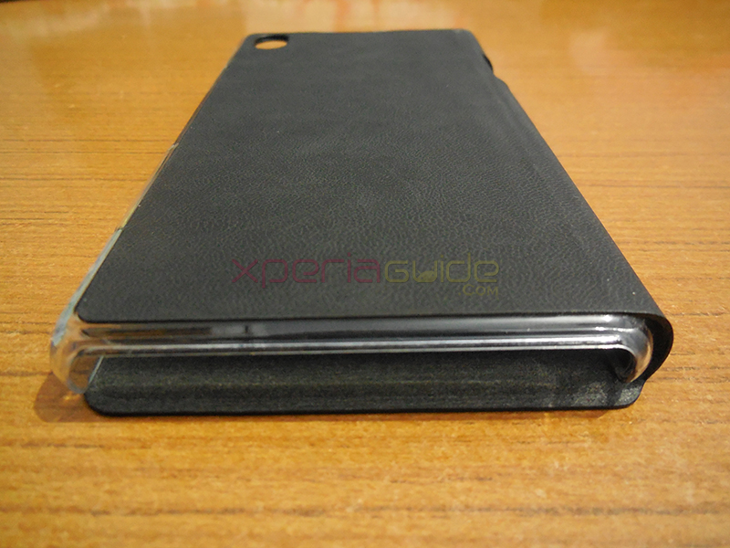 Xperia Z1 Book Flip Case from Roxfit - Speaker grill opening