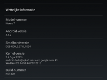 About Phone of Android 4.4.2 KOT49H Update for Nexus 7 2013 Tablet