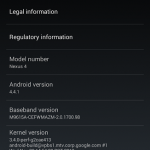 Android 4.4.1 KOT49E Update on Nexus 4, Nexus 7 2013 LTE from 4.4 KRT16S