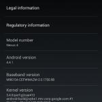 Android 4.4.1 KOT49E Update on Nexus 4, Nexus 7 2013 LTE from 4.4 KRT16S