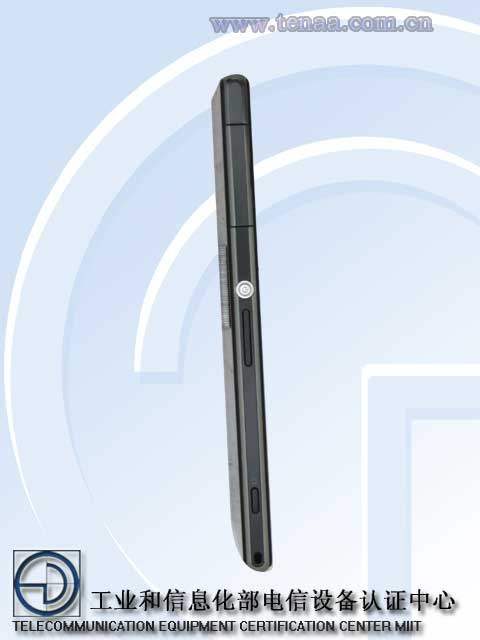 Left Side pose of Xperia Z1S L39t - Power button