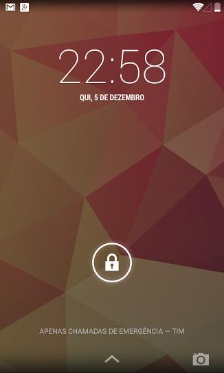 Lockscreen on Android 4.4.1 KOT49E Update on Nexus 4