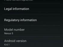 Nexus 5 Android 4.4.1 KOT49E Update
