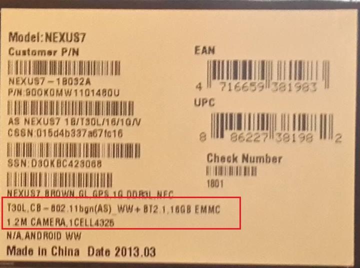 Nexus 7 2013 Tab KitKat winners details