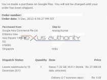 Purchase Nexus 7 2013 Tablet from Google Play Store in India