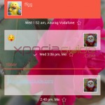 Set conversation wallpaper in SMS on Android 4.3 in Xperia Z1, Z Ultra