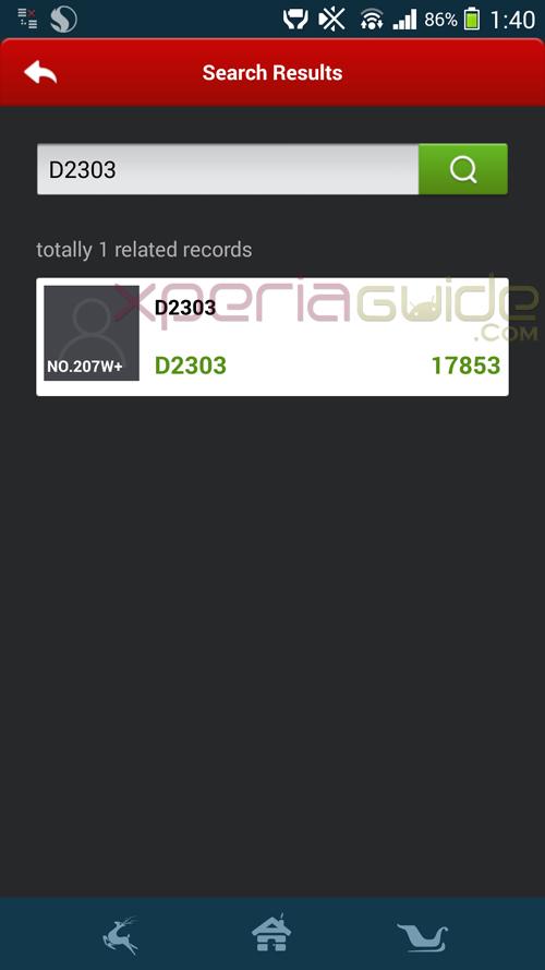 Sony D2303 scores 17853 points on AnTuTu benchmark