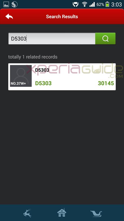 Sony D5303 scored 30145 points on AnTuTu Benchmark