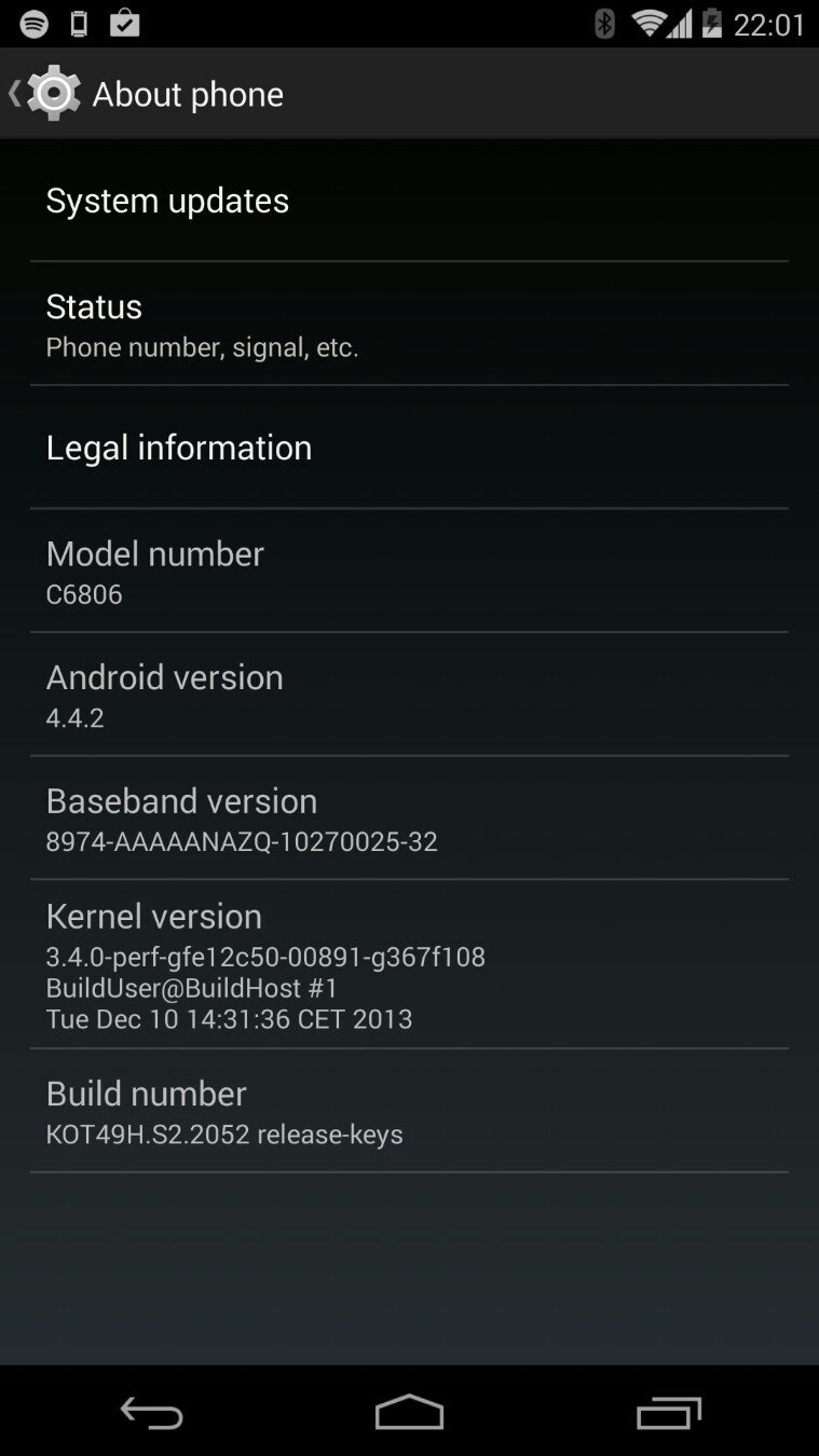 Sony Z Ultra C6806 GPE Android 4.4.2 KOT49H
