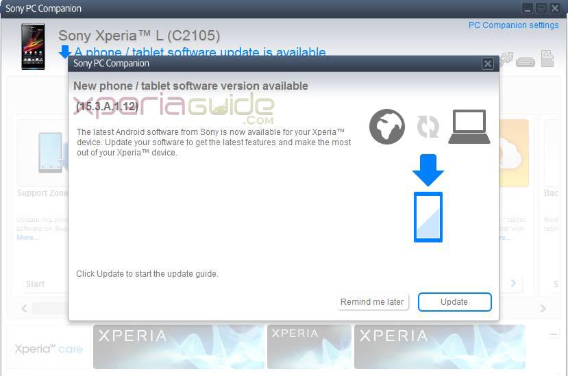 Xperia L 15.3.A.1.12 Firmware Update Rolling