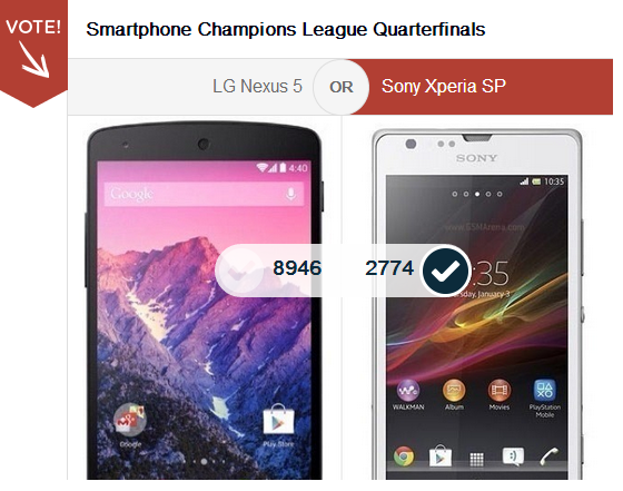 Xperia SP vs LG Nexus 5 - Vote Here
