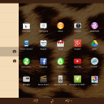 Xperia Themes on Tablet Z - Leopard
